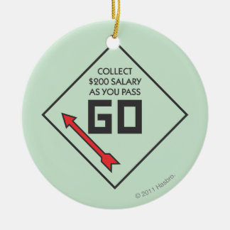Monopoly | Pass Go Corner Square Ceramic Ornament