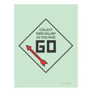 Monopoly | Pass Go Corner Square Postcard