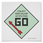Monopoly | Pass Go Corner Square Poster