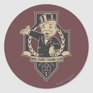 Monopoly | Real Estate Tycoon Club Classic Round Sticker