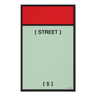 Monopoly | Red Space Poster