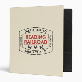 Monopoly | Take a Trip to Reading Railroad 3 Ring Binder