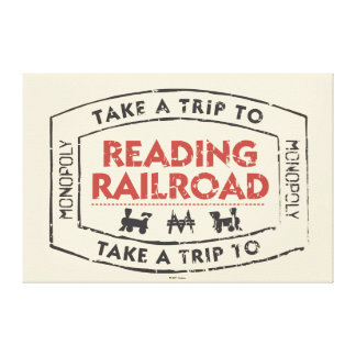 Monopoly | Take a Trip to Reading Railroad Canvas Print