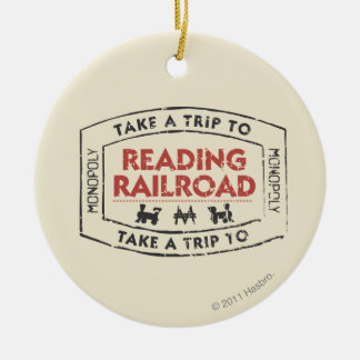 Monopoly | Take a Trip to Reading Railroad Ceramic Ornament