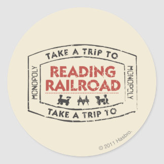 Monopoly | Take a Trip to Reading Railroad Classic Round Sticker