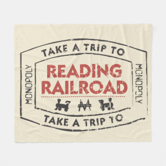 Monopoly | Take a Trip to Reading Railroad Fleece Blanket