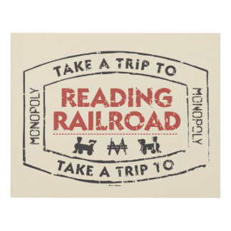 Monopoly | Take a Trip to Reading Railroad Panel Wall Art