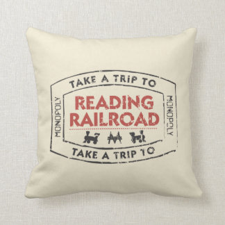 Monopoly | Take a Trip to Reading Railroad Throw Pillow