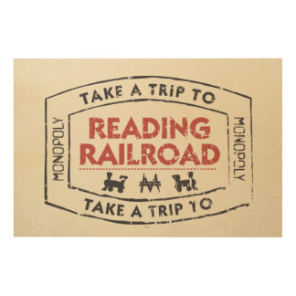 Monopoly | Take a Trip to Reading Railroad Wood Wall Art