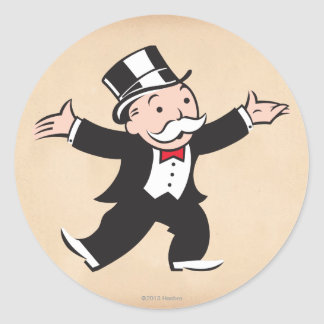 Monopoly | Uncle Pennybags Classic Round Sticker