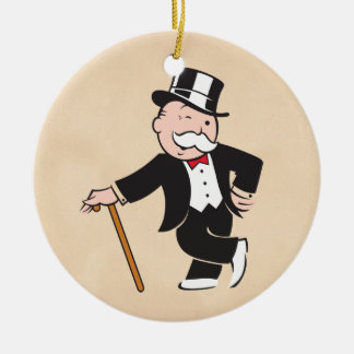 Monopoly | Uncle Pennybags Winking Ceramic Ornament
