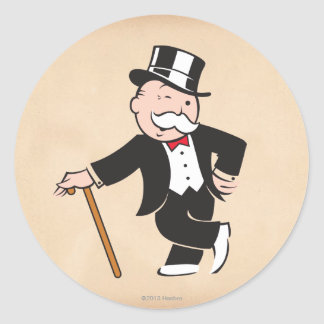 Monopoly | Uncle Pennybags Winking Classic Round Sticker