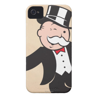 Monopoly | Uncle Pennybags Winking iPhone 4 Case