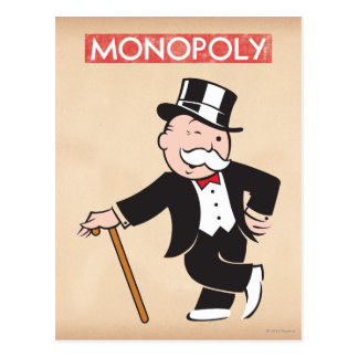 Monopoly | Uncle Pennybags Winking Postcard