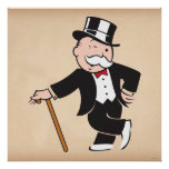 Monopoly | Uncle Pennybags Winking Poster