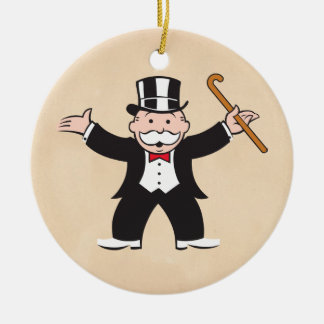 Monopoly | Uncle Pennybags With Cane Ceramic Ornament