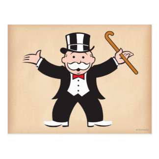 Monopoly | Uncle Pennybags With Cane Postcard