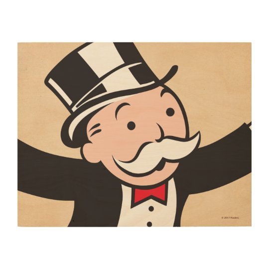 Monopoly | Uncle Pennybags Wood Wall Decor | Zazzle.com