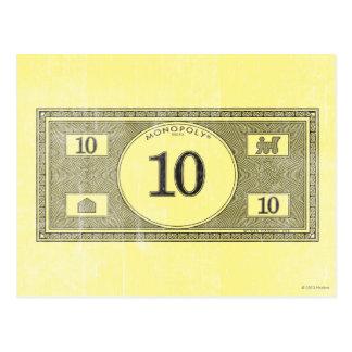 Monopoly | Vintage 10 Dollar Bill Postcard