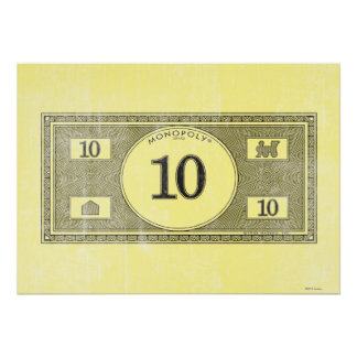 Monopoly | Vintage 10 Dollar Bill Poster