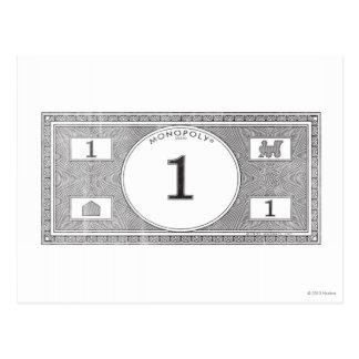 Monopoly | Vintage 1 Dollar Bill Postcard