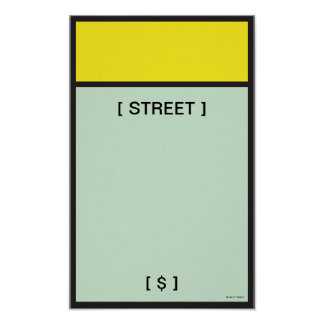 Monopoly | Yellow Space Poster