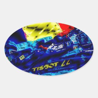 Monoposto - Artwork Jean Louis Glineur Oval Sticker