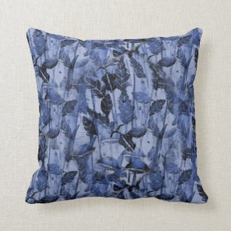 Monoprint Nature Design on Throw Pillow