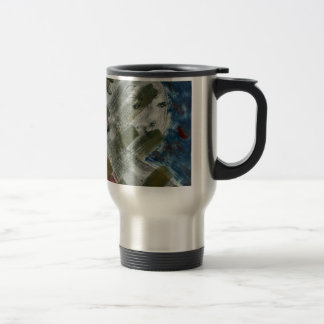 Monoprint Woman and Crow (Raven) Travel Mug