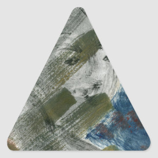 Monoprint Woman and Crow (Raven) Triangle Sticker
