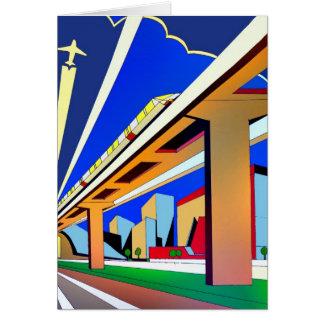 Monorail birthday/greeting card