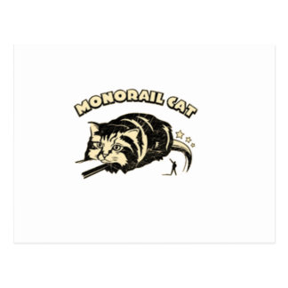 monorail cat postcard