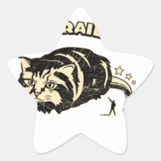 monorail cat star sticker