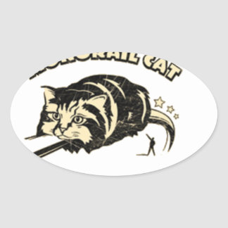 monorail cat oval stickers