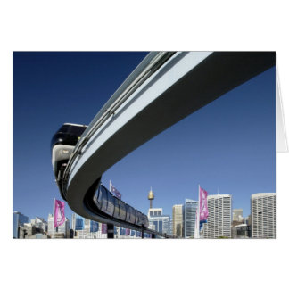 Monorail in Darling Harbor, Sydney, Australia Card