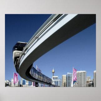Monorail in Darling Harbor, Sydney, Australia Poster
