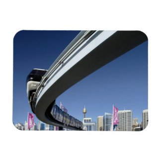 Monorail in Darling Harbor, Sydney, Australia Rectangular Photo Magnet