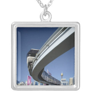Monorail in Darling Harbor, Sydney, Australia Silver Plated Necklace