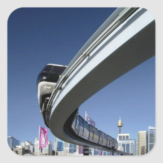 Monorail in Darling Harbor Sydney Australia Sticker