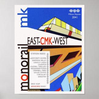 Monorail of Milton Keynes poster art/print