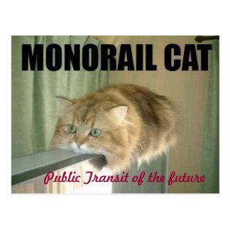 monorailcat postcard