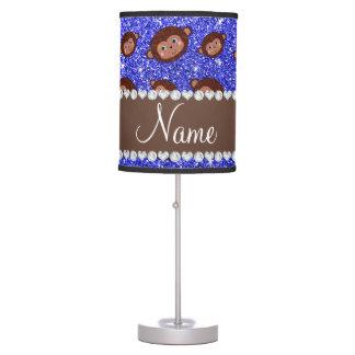 Monos azules de neón conocidos personalizados del lámpara de escritorio