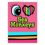 Monos brillantes del mar del amor del corazón I de