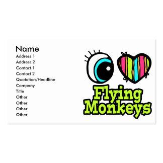 Monos brillantes del vuelo del amor del corazón I  Plantilla De Tarjeta De Visita
