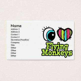 Monos brillantes del vuelo del amor del corazón I Tarjetas De Visita