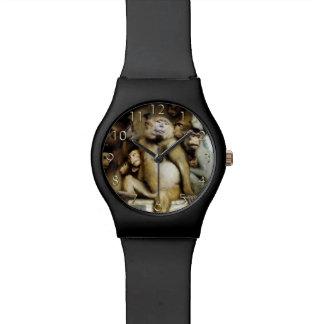 Monos como jueces del arte (detalle) reloj