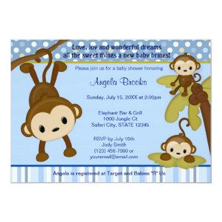 Monos de la invitación 3 de la fiesta de