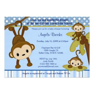 Monos de la invitación 3 de la fiesta de bienvenid