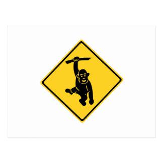 Monos de la precaución, señal de tráfico, Taiwán Postales