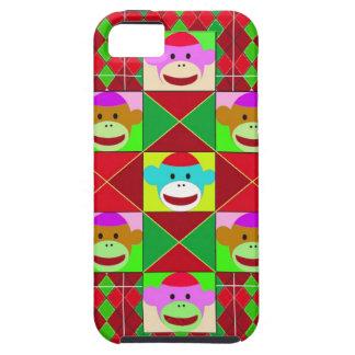 Monos de la tela escocesa iPhone 5 cárcasas